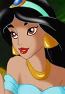 Sensual Princess Jasmine with superb titties filling her throat with hot sperm
