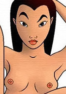 Fa Mulan with soft tits gets rammed between her nice nipples by Cri-Kee's cock