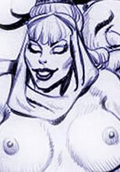 Virgin Jeannie ripped apart like a nasty skunk by Genie's dick