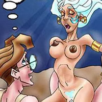 Princess Kida with open mouth cumming
