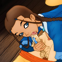 Innocent Avatar Katara getting extremely drilled by Momo