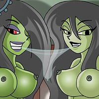 Shego with enormous knockers grab Wade Load